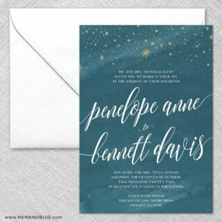 Estrella 2 Invitation And Envelope