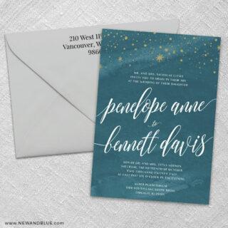 Estrella 3 Invitation And Color Envelope