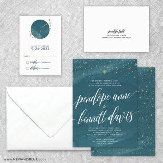 Estrella 5 Wedding Invitation And Rsvp Card