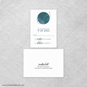 Estrella 6 Reception Card And Rsvp Card