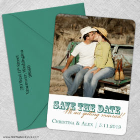 Field Of Dreams 5 Save The Date With Optional Color Envelope1