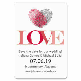 Fingerprint Heart 1 Save The Date Magnets1