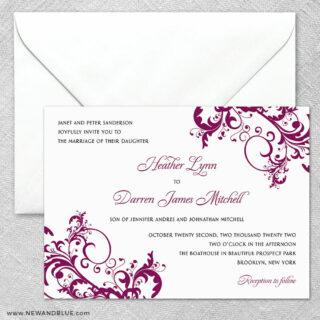 Flourish 2 Invitation And Envelope