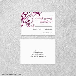 Flourish 6 Reception Card And Rsvp Card