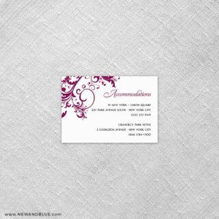 Flourish 7 Reception Card