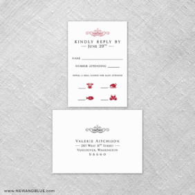 Fly Me To The Moon 6 Reception Card And Rsvp Card