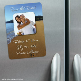 Footprints 3 Refrigerator Save The Date Magnets1