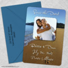 Footprints 5 Save The Date With Optional Color Envelope1
