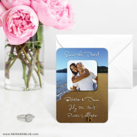 Footprints 6 Wedding Save The Date Magnets1