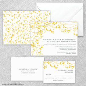 Galapagos 5 Wedding Invitation And Rsvp Card