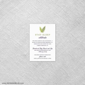 Garden Fern 7 Reception Card