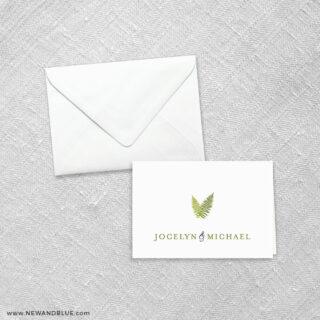 Garden Fern 8 Thank You Card