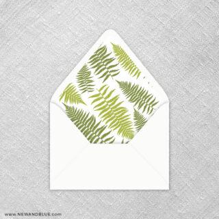 Garden Fern 9 Envelope Liner
