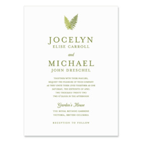 Garden Fern Wedding Invitation