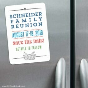 Gather 3 Refrigerator Save The Date Magnets