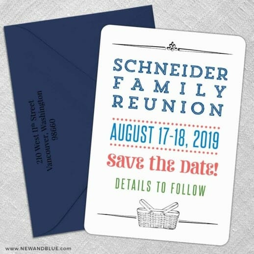 Gather 5 Save The Date With Optional Color Envelope