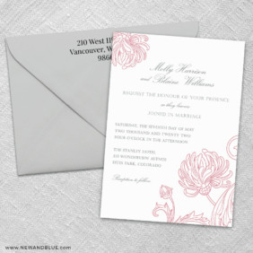Gatsby 3 Invitation And Color Envelope