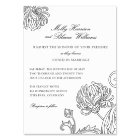 Gatsby Wedding Invitation