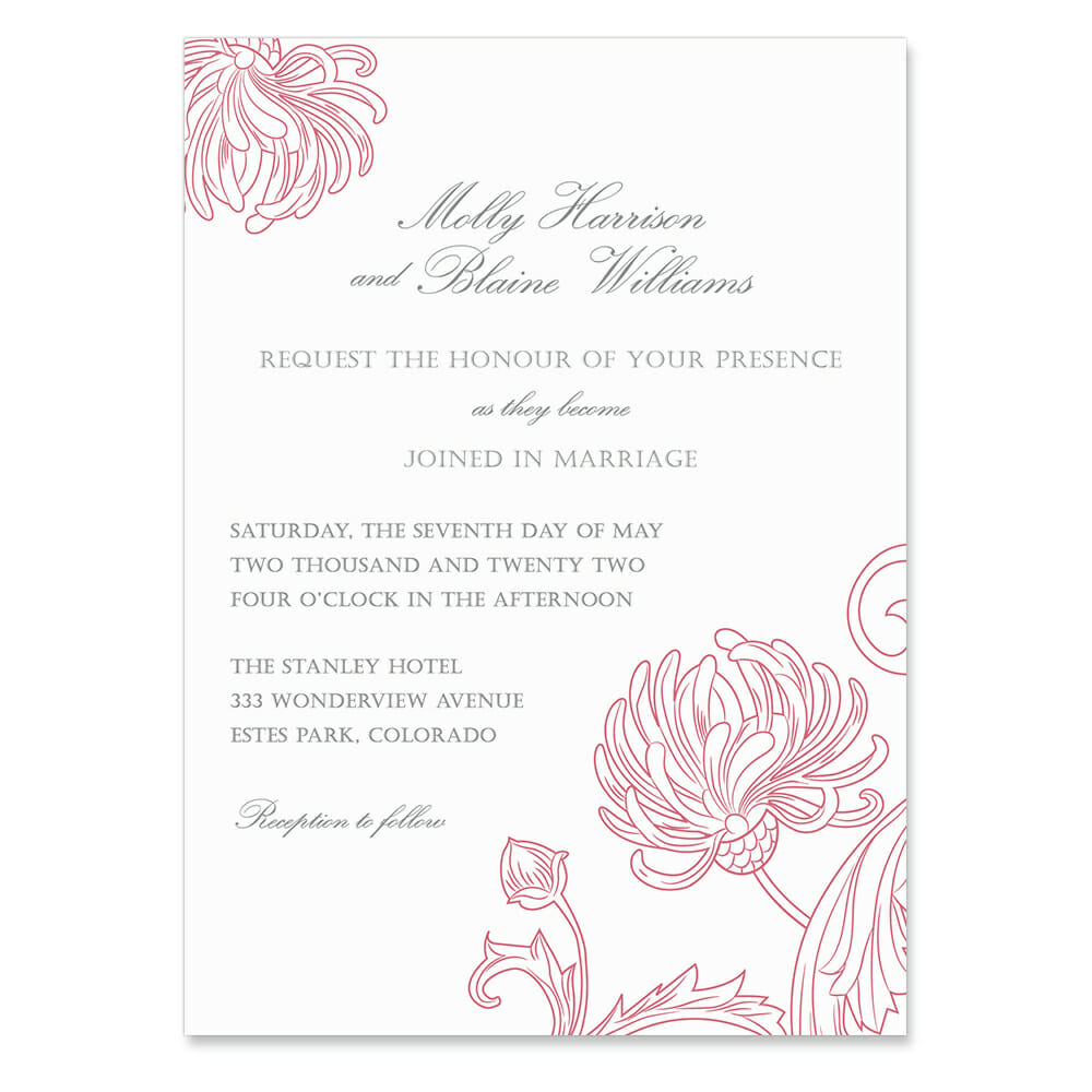 Gatsby Invitation Shown In Color Pink