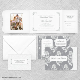 Genoa All In One Wedding Invitation Suite