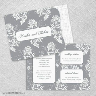 Genoa Allinone Wedding Invitation Set