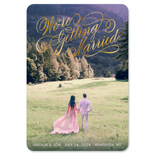Getting Married 1 Foil Save The Date Magnets