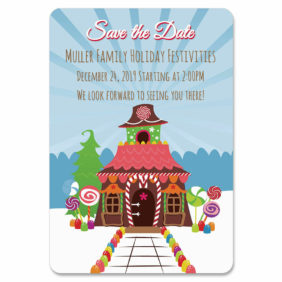 Gingerbread House 1 Save The Date Magnets1