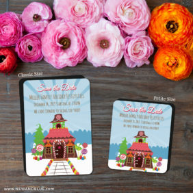 Gingerbread House 2 Save The Date Magnet Classic And Petite Size1