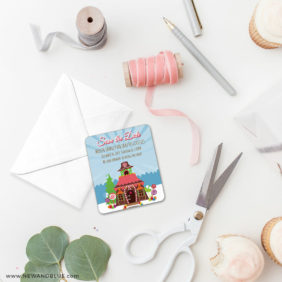 Gingerbread House 4 Petite Size Magnet1
