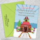 Gingerbread House 5 Save The Date With Optional Color Envelope1