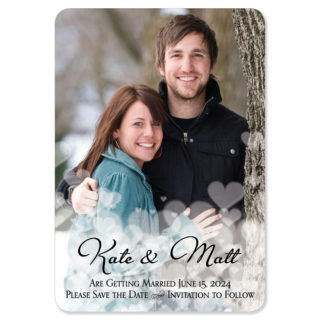 Glistening Hearts 1 Save The Date Magnets