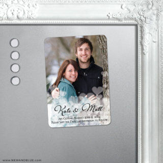Glistening Hearts 5 Save The Date Fridge Magnet