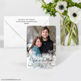 Glistening Hearts 7 Wedding Save The Date Magnet