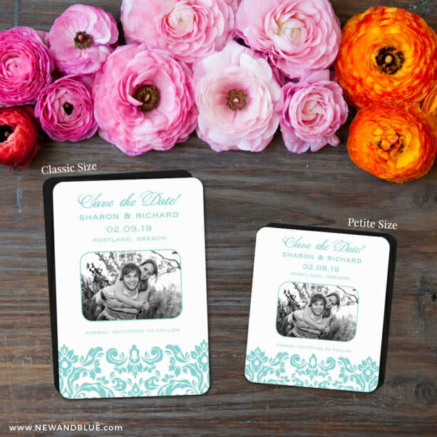 Grace 2 Save The Date Magnet Classic And Petite Size1