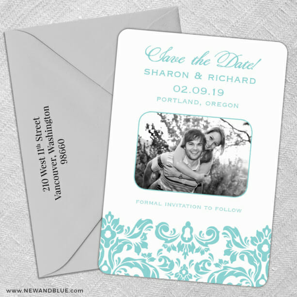 Grace 5 Save The Date With Optional Color Envelope1