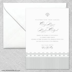 Gramercy Park 2 Invitation And Envelope