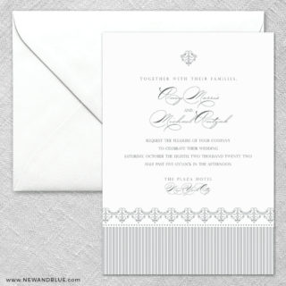 Gramercy Park 2 Invitation And Envelope