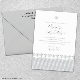 Gramercy Park 3 Invitation And Color Envelope