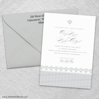 Gramercy Park 3 Invitation And Color Envelope