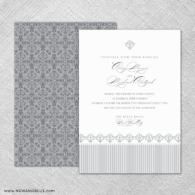 Gramercy Park 4 Invitation Shown With Back Printing