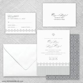 Gramercy Park 5 Wedding Invitation And Rsvp Card