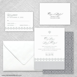Gramercy Park 5 Wedding Invitation And Rsvp Card