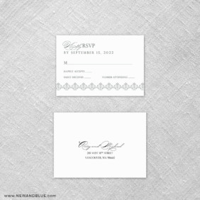 Gramercy Park 6 Reception Card And Rsvp Card