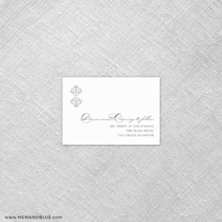 Gramercy Park 7 Reception Card