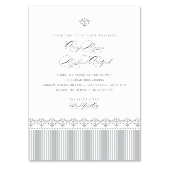 Gramercy Park Invitation Shown In Color Gray
