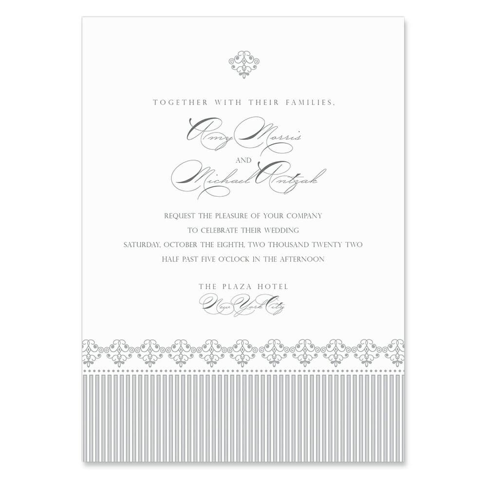 Gramercy Park Invitation Shown In Color Gray