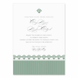 Gramercy Park Wedding Invitation