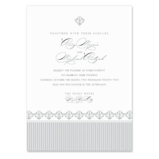 Gramercy Park Wedding Invitation