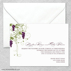 Grapevine 2 Invitation And Envelope