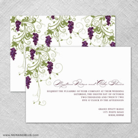 Grapevine 4 Invitation Shown With Back Printing